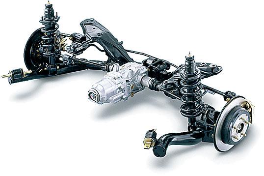 ホンダCR-Vのダブルウィッシュボーンサスペンション(引用:http://www.honda.co.jp/)