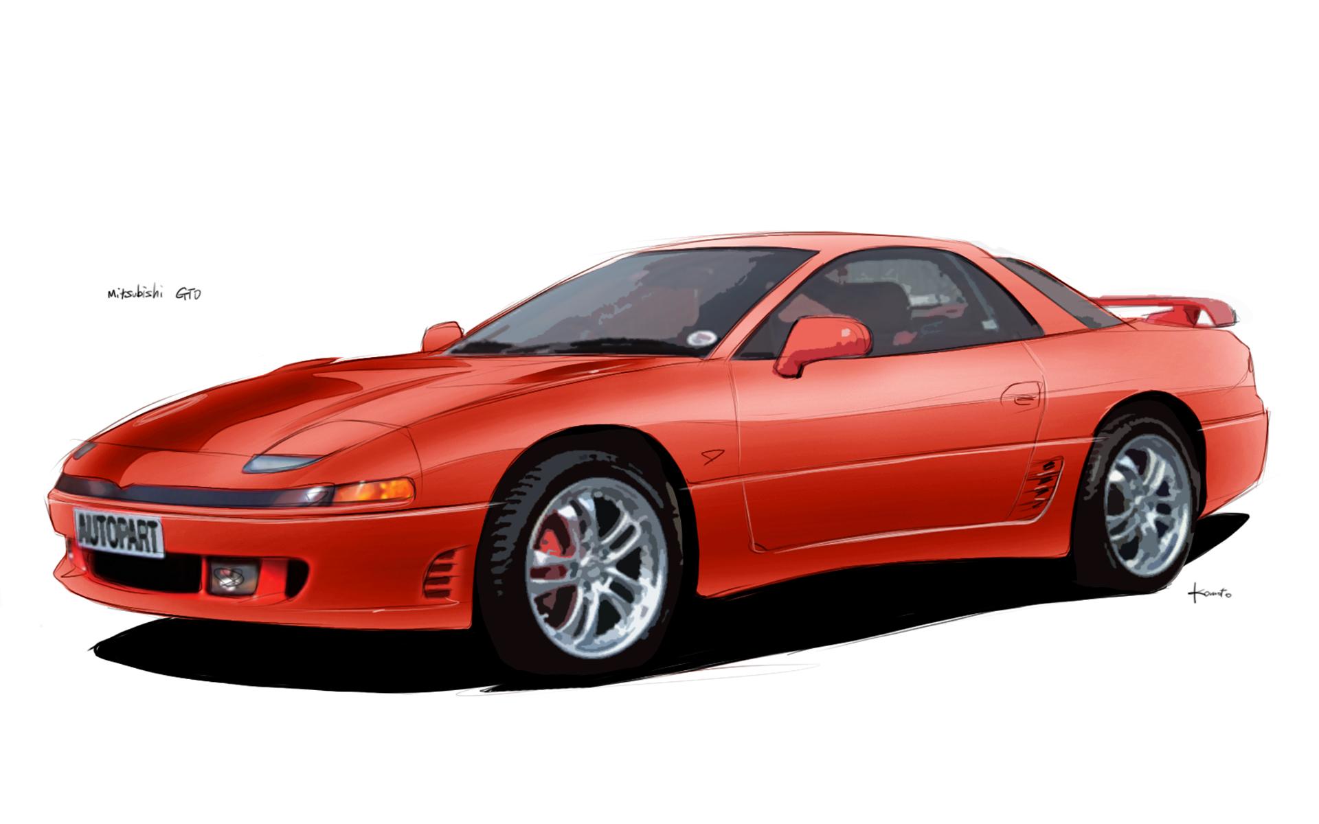 2018 Mitsubishi Gto >> 三菱 GTO(MITSUBISHI GTO)フリーイラスト素材(無料・商用利用可) - 車検費用110番 - 安い車検をおすすめ比較